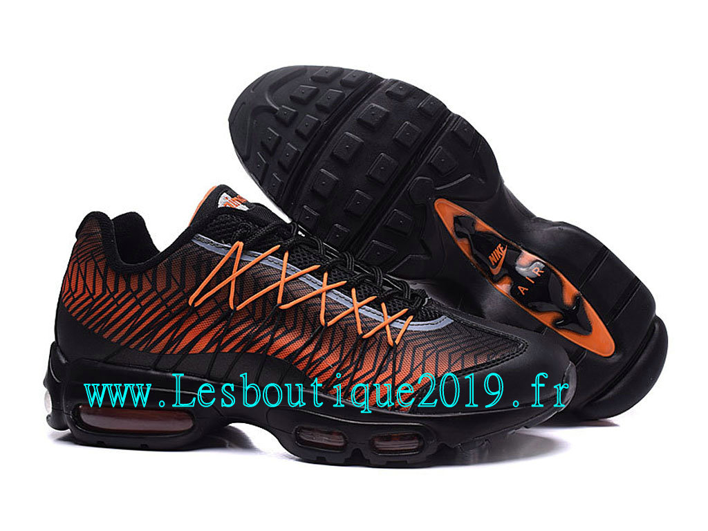 detailed look 6d9a7 39983 ... Nike Air Max 95 Ultra Jacquard Chaussures Officiel Running Pas Cher Pour  Homme Noir Orange 749771 ...