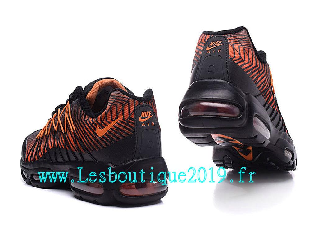 online store eac7a 16f93 ... Nike Air Max 95 Ultra Jacquard Chaussures Officiel Running Pas Cher  Pour Homme Noir Orange 749771
