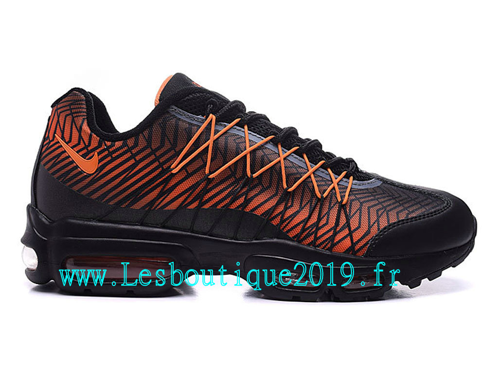buy popular 30354 6ea12 Nike Air Max 95 Ultra Jacquard Chaussures Officiel Running Pas Cher Pour  Homme Noir Orange 749771 ...