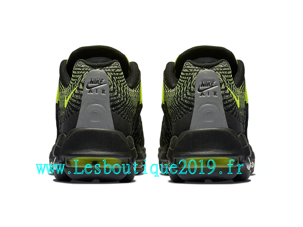 competitive price deefd 6db76 ... Nike Air Max 95 Ultra Jacquard Chaussures Officiel Running Pas Cher Pour  Homme Noir Vert 749771