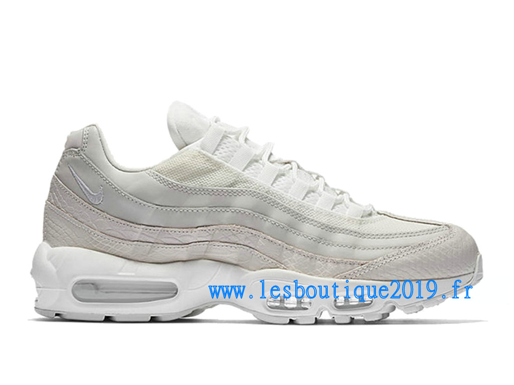 Nike Air Max 95 White Snakeskin Chaussures Nike Sportswear Pas Cher Pour Homme 538416-100