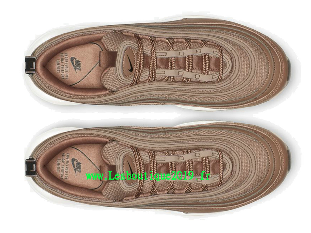 best sneakers d329d 066f8 ... Nike Air Max 97 Lux Or Blanc Chaussures Officiel Running Pas Cher Pour  Homme AR7621- ...