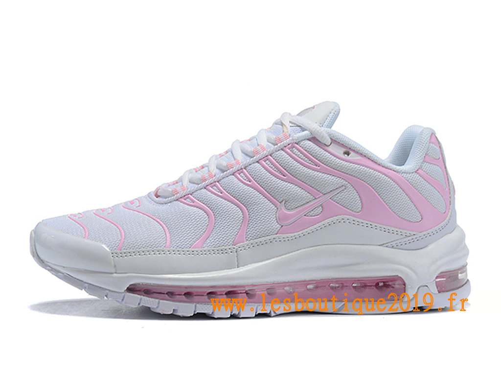 Nike Air Max 97 Plus Chaussures Nike BasketBall Pas Cher Pour Homme Blanc Rose