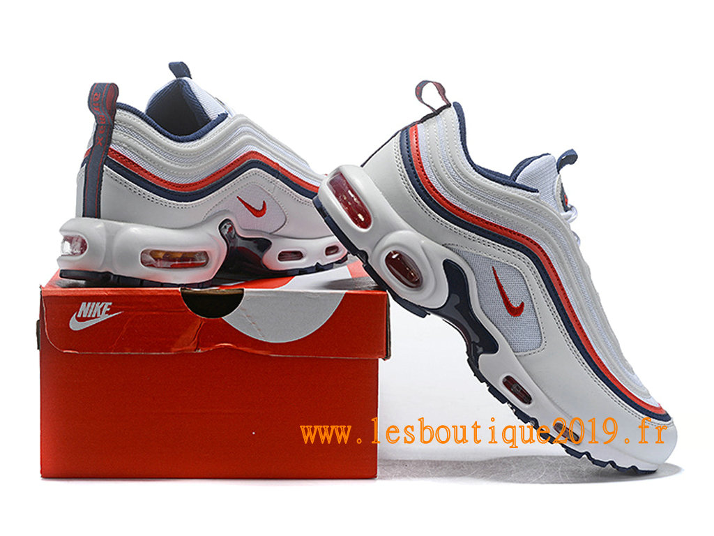 sports shoes a774f 88f15 ... Nike Air Max 97 Plus Tn Chaussures Nike BasketBall Pas Cher Pour Homme  Blanc Rouge