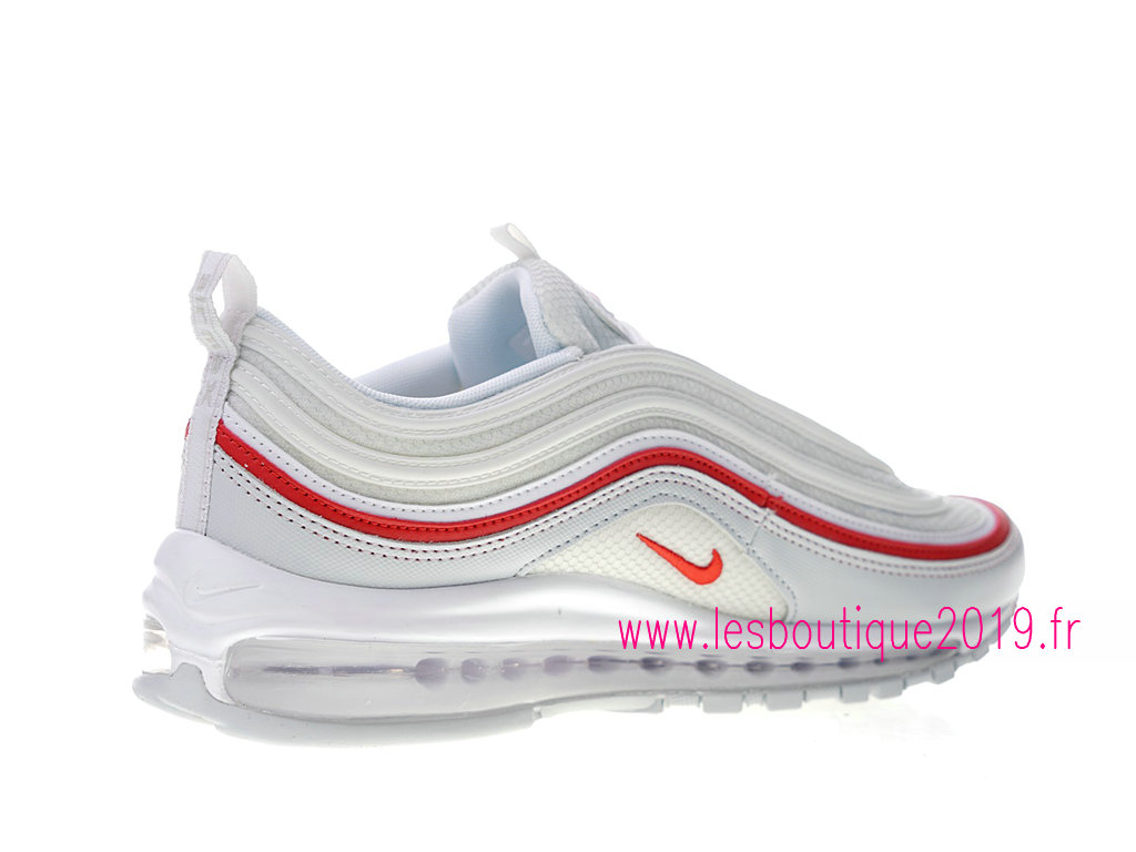 size 40 aa99f cfbda ... Nike Air Max 97 Premium GS Blanc Roouge Chaussures Nike Running Pas  Cher Pour Femme AR5531 ...