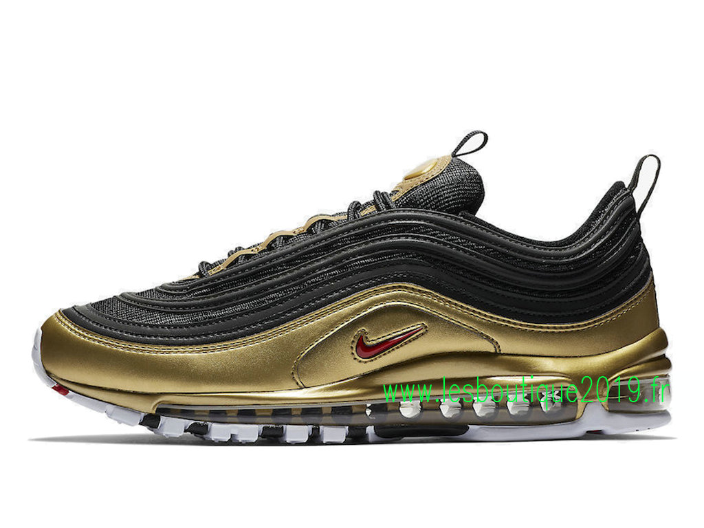 new product b72d4 65bc1 Nike Air Max 97 QS Black Gold Men´s Nike BasketBall Shoes ...