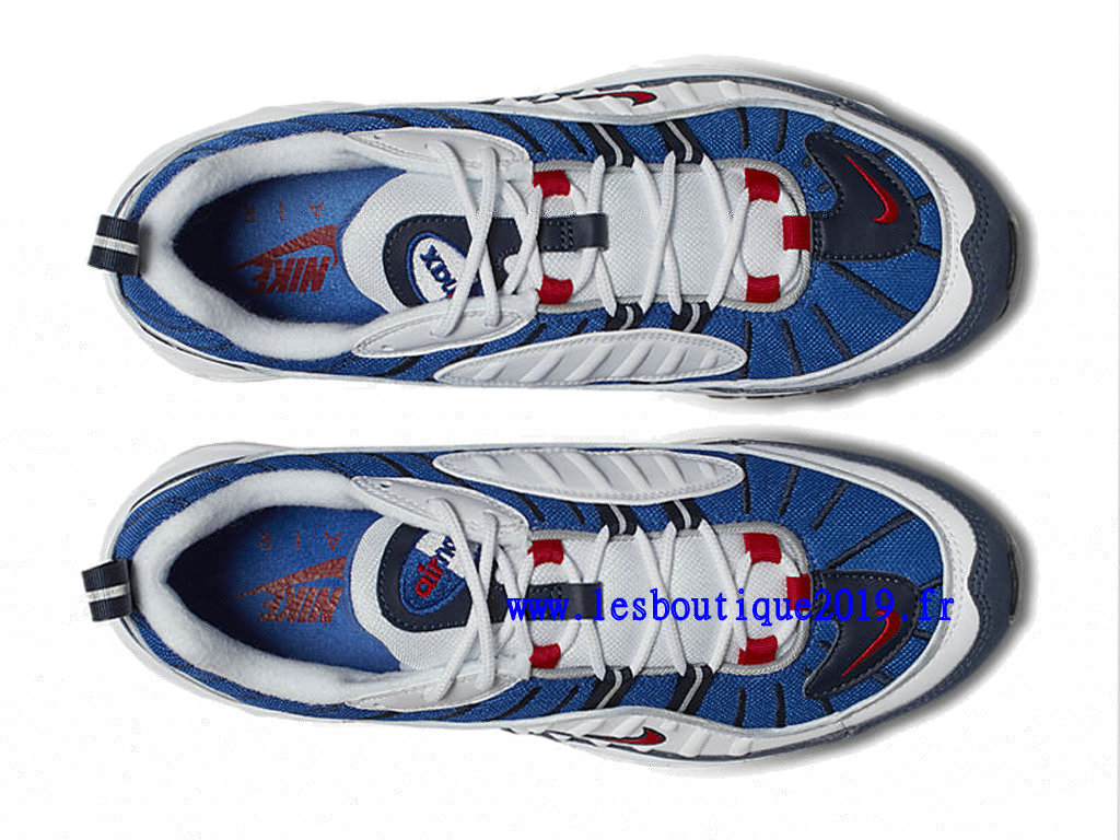 4a248881845 ... Nike Air Max 98 Gundam Bleu Blanc Chaussure de BasketBall Pas Cher Pour  Homme 640744- ...