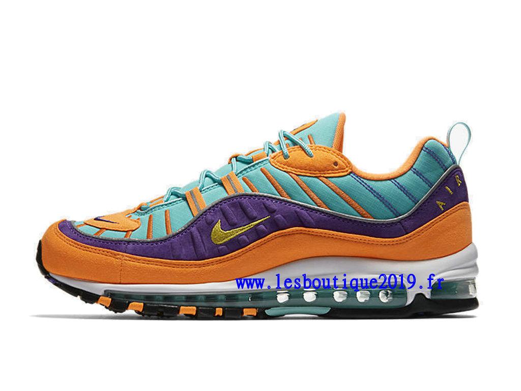 Nike Air Max 98 QS OrangeVertJaune Tour Hyper Violet 924462 800