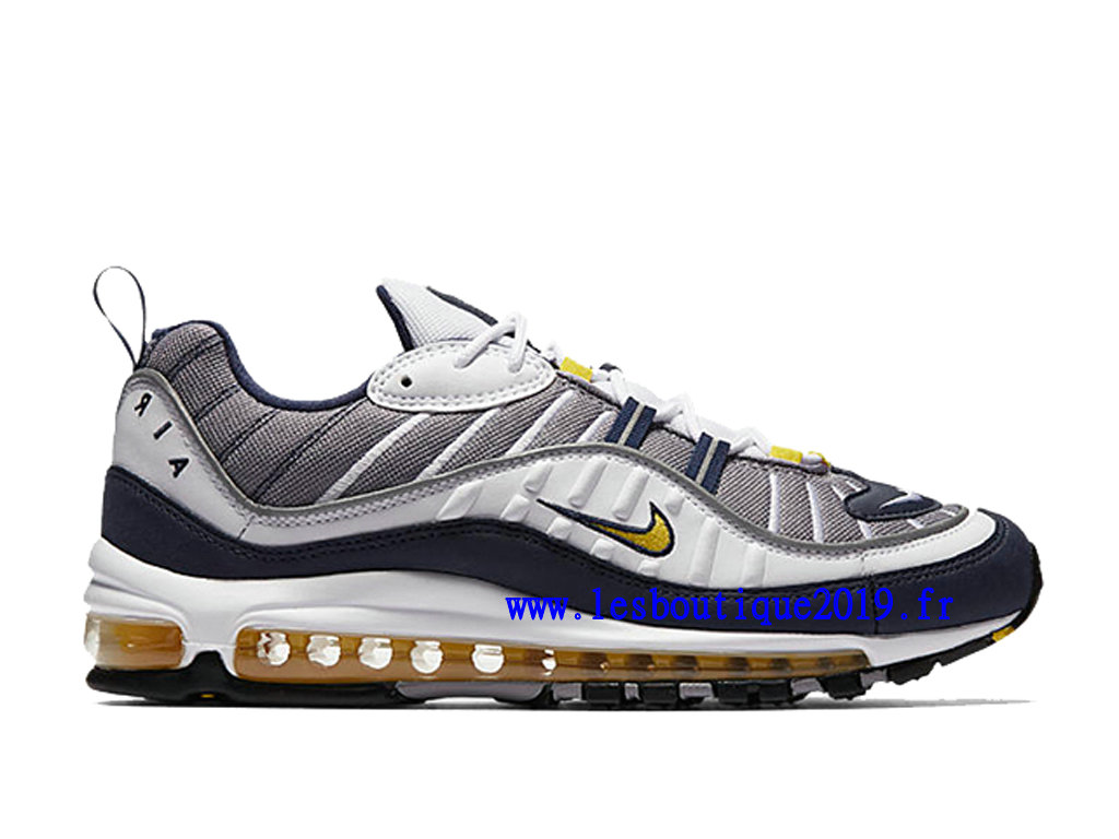 Nike Air Max 98 Tour Yellow Chaussure de BasketBall Pas Cher Pour Homme 640744-105