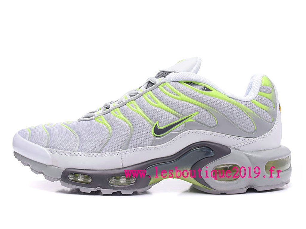 Nike Air Max Plus Gris Vert Chaussures Nike Running Pas Cher Pour Homme