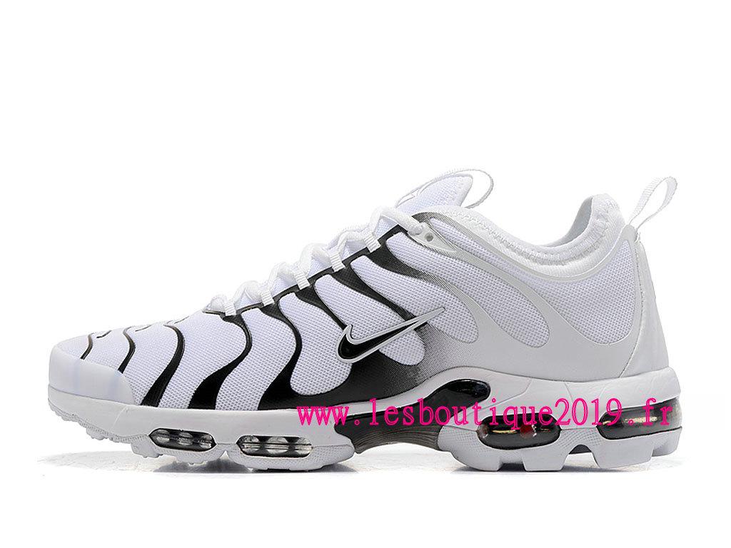 new product e6963 cf8ed Nike Air Max Plus (Nike TN) ID Blanc Noir Chaussure de BasketBall Pas Cher  ...