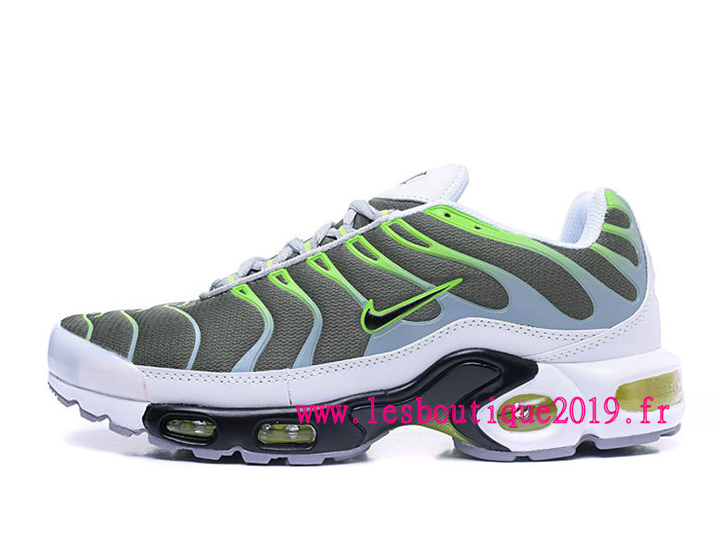 buy online 002f6 0d74f Nike Air Max Plus (Nike TN) ID Gris Vert Chaussure de BasketBall Pas Cher  ...