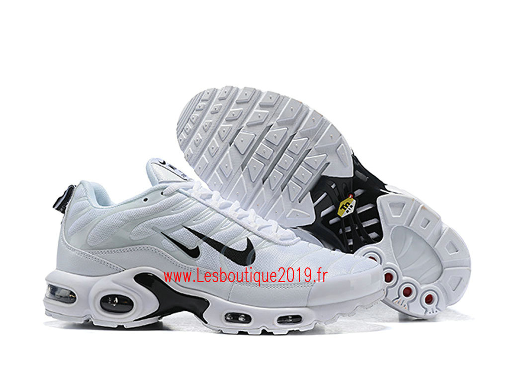 4e811ebc6ec ... Nike Air Max Plus Premium Blanc Noir Chaussures Nike Tuned 1 Pas Cher  Pour Homme 815994 ...