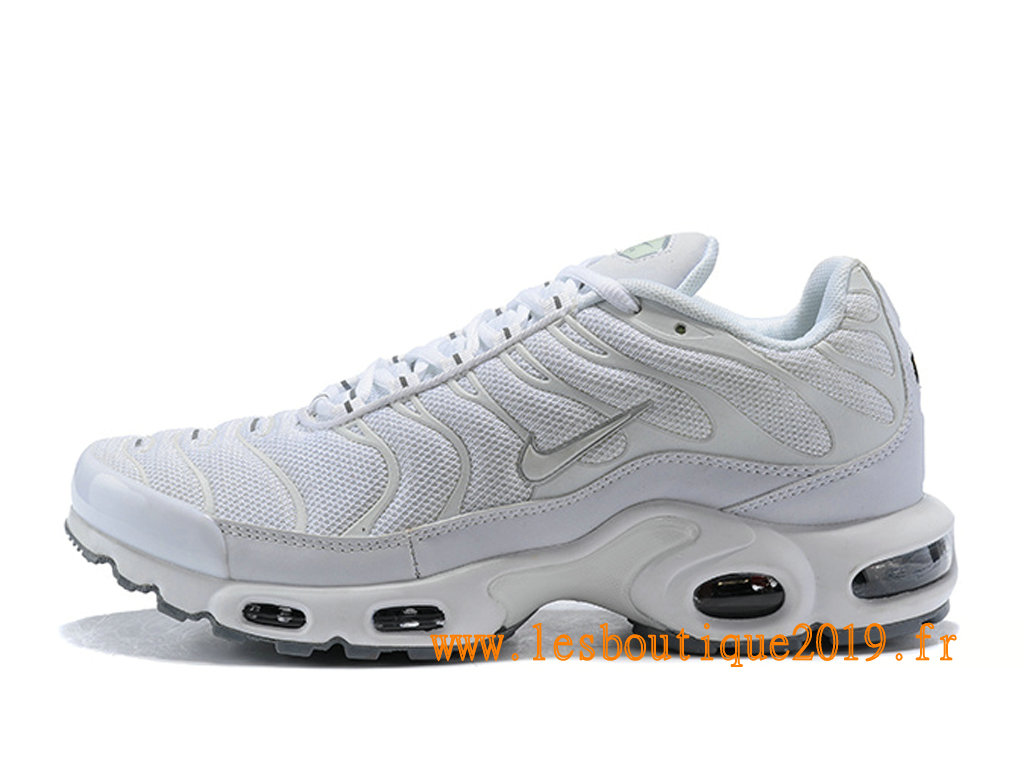 dddebe230c Nike Air Max Plus/Tn Requin 2019 Chaussures Nike Running Pas Cher Pour Homme  Blanc ...