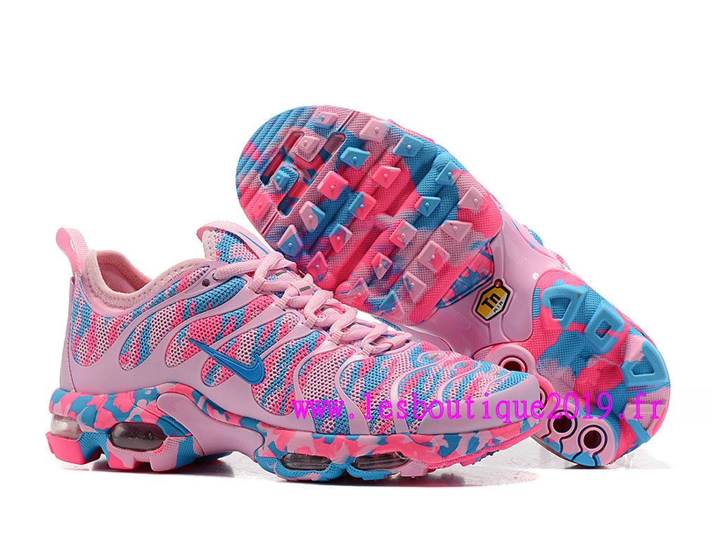 sports shoes 10147 5e6d9 ... Nike Air Max Plus TN Ultra GS Rose Bleu Chaussures de BasketBall Pas  Cher Pour Femme ...