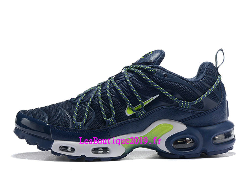 brand new 9ae3b bc07f Nike Air Max Plus TN Ultra SE Bleu Vert Chaussures Officiel 2019 Pas Cher Pour  Homme ...