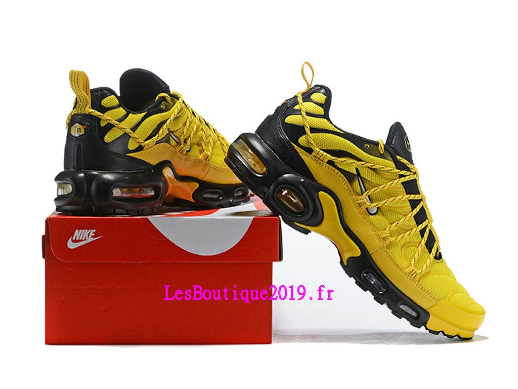 hot sale online 9de73 48ee6 ... Nike Air Max Plus TN Ultra SE Jaune Noir Chaussures Officiel 2019 Pas  Cher Pour Homme