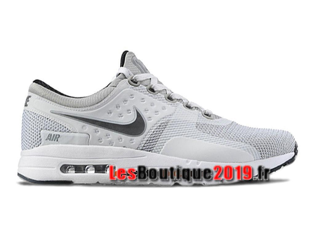 100% authentic b0162 0b193 ... real nike air max zero chaussures mixte nike sportswear pas cher pour  homme blanc gris 789695