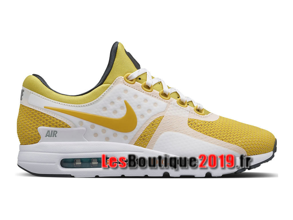 finest selection bb4a4 768f9 Nike Air Max Zero Chaussures Mixte Nike Sportswear Pas Cher Pour Homme  Jaune Blanc 789695- ...