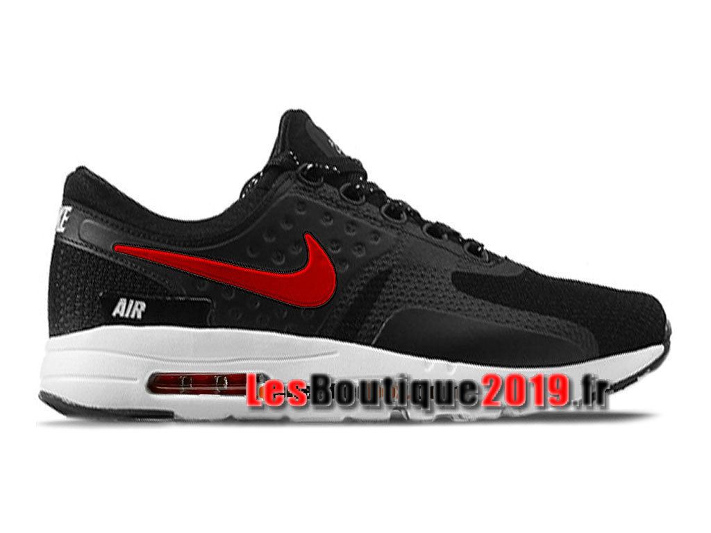 aa7d0e31a967 Nike Air Max Zero Men´s Unisex Nike Sportswear Shoes Black Red 789695-801iD