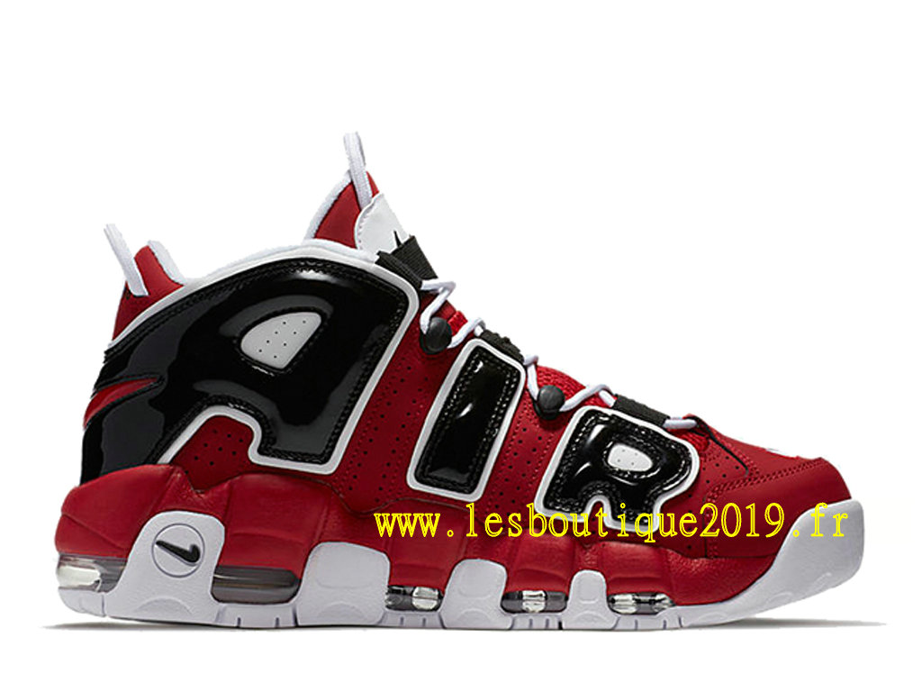 Nike Air More Uptempo 96 Red Black Chaussure de BasketBall Pas Cher Pour Homme 921948-600