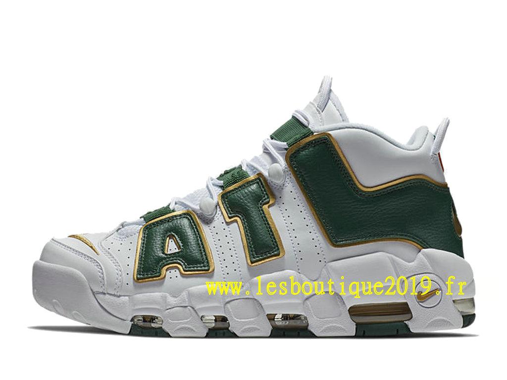 hot sale online a5c80 a4b7c ... Nike Air More Uptempo Atlanta White Green Men´s Nike BasketBall Shoes  ...