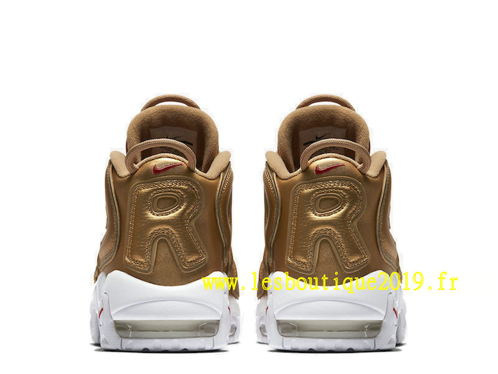hot sale online e74fc c0923 ... Nike AIR More Uptempo Supreme Gold White Men´s Nike BasketBall Shoes  902290-700