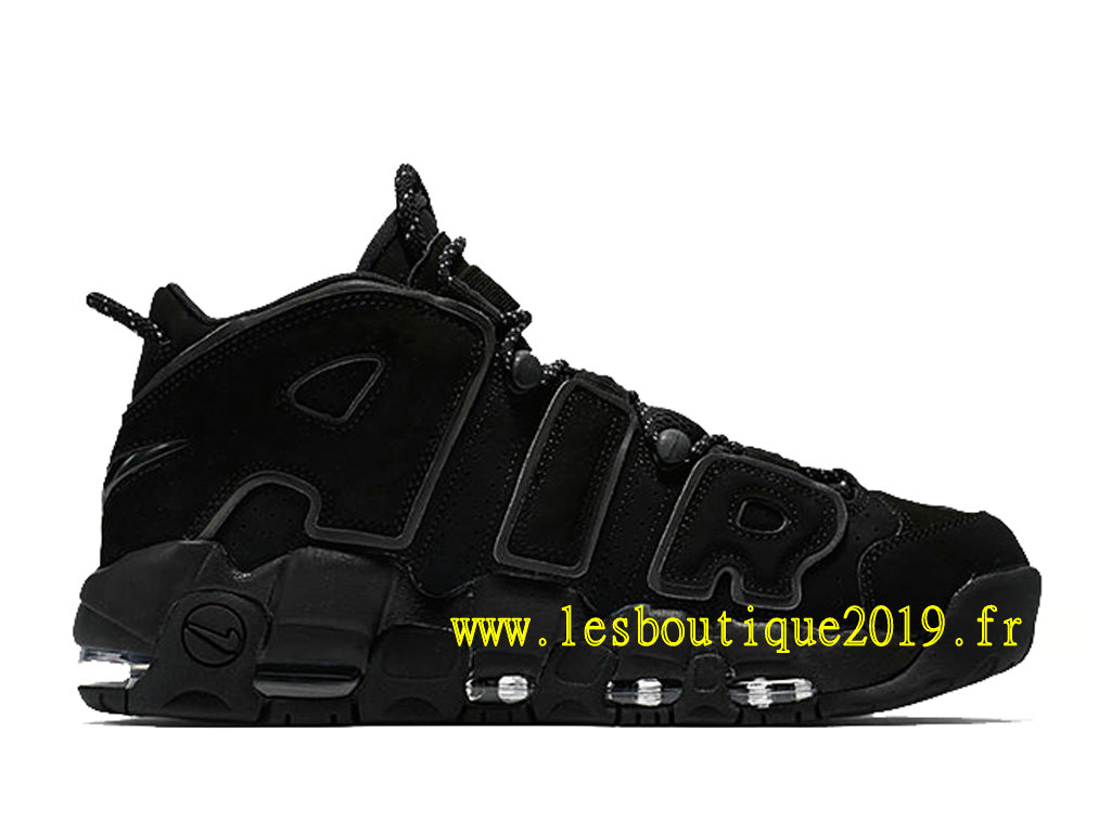 buy online a2190 b9dca Nike Air More Uptempo Triple Black Men´s Nike BasketBall Shoes 414962-004
