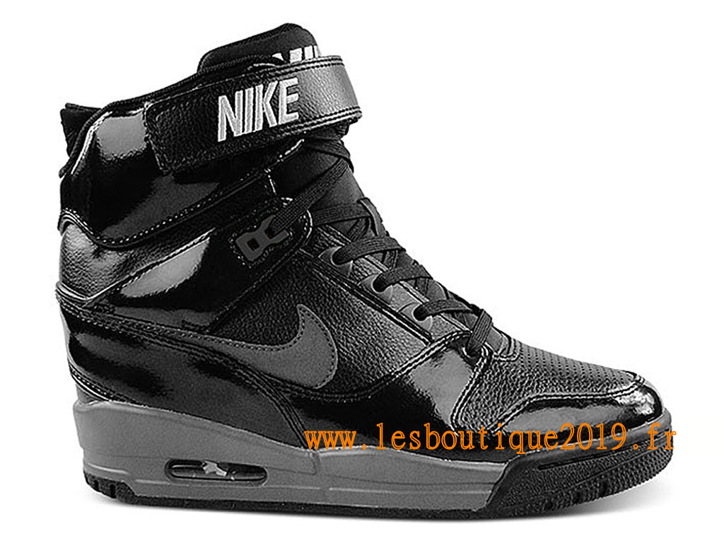 size 40 23d56 64566 Nike Air Revolution Sky Hi GS Women´s Nike BasketBall Shoes Black Silver  599410- ...