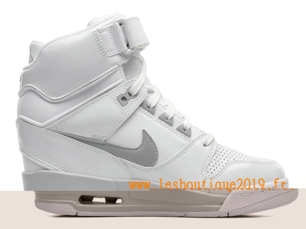 new concept 15d4c c5eee Nike Air Revolution Sky Hi GS Women´s Nike BasketBall Shoes White Gery  599410-