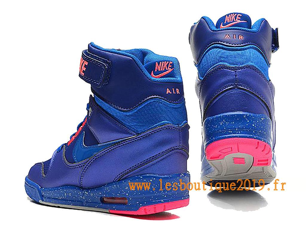 promo code efeda f54b0 ... Nike Air Revolution Sky Hi GS Chaussures Nike Basket Pas Cher Pour  Femme Bleu Rose 599410