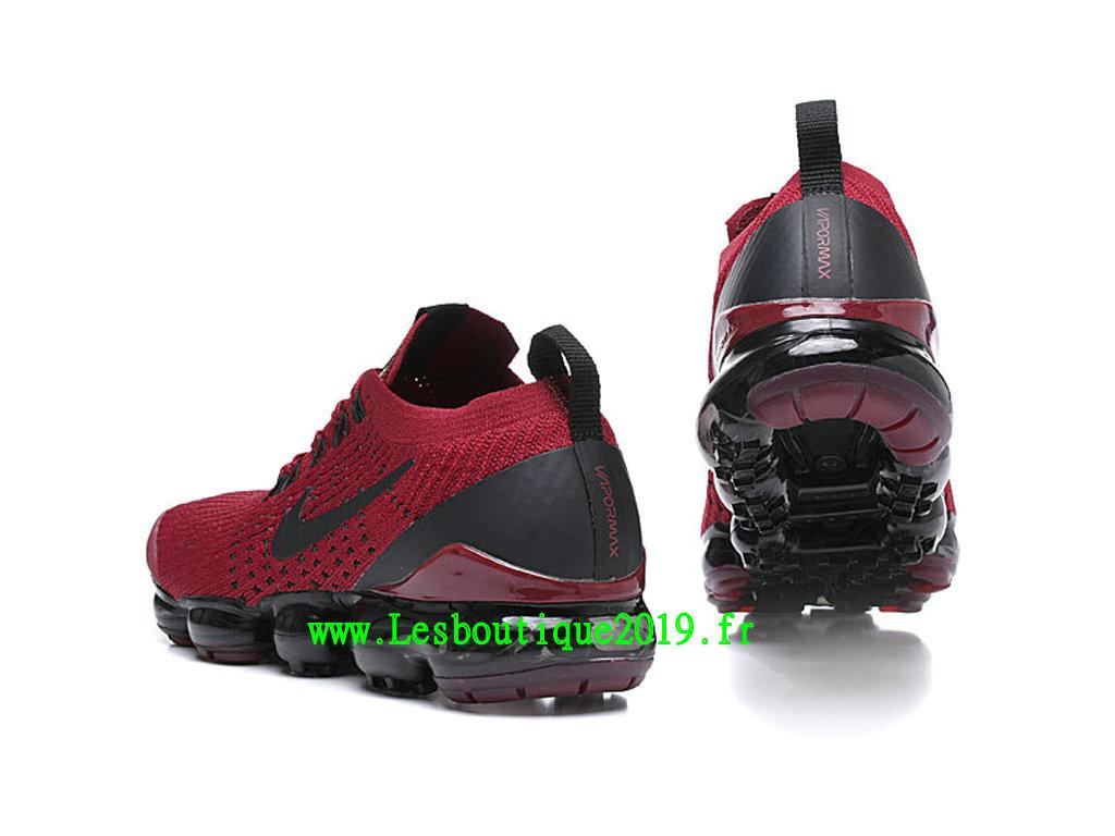 f1637bda892 ... Nike Air Vapormax Chaussures Basket 2019 Pas Cher Pour Homme Rouge Noir  AJ6900-602