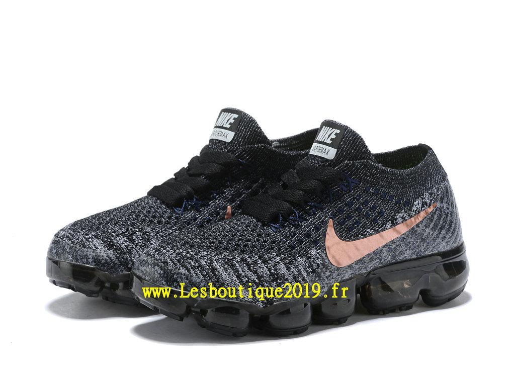 75aad827731 ... Nike Air Vapormax Chaussures Officiel Running 2018 Pas Cher Pour Enfant  Noir Or ...