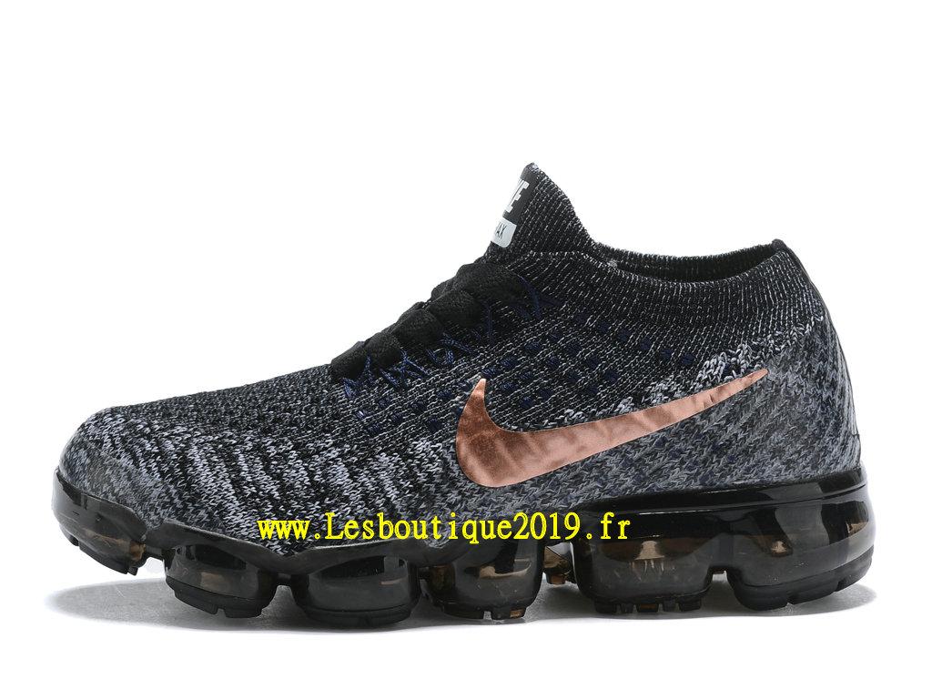 75e9a9b13dc Nike Air Vapormax Chaussures Officiel Running 2018 Pas Cher Pour Enfant  Noir Or ...