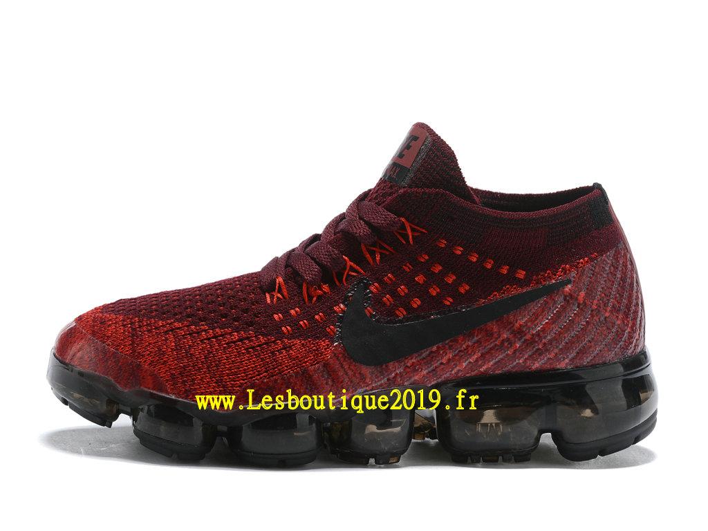 7e4df423960af Nike Air Vapormax Chaussures Officiel Running 2018 Pas Cher Pour Enfant  Rouge Noir
