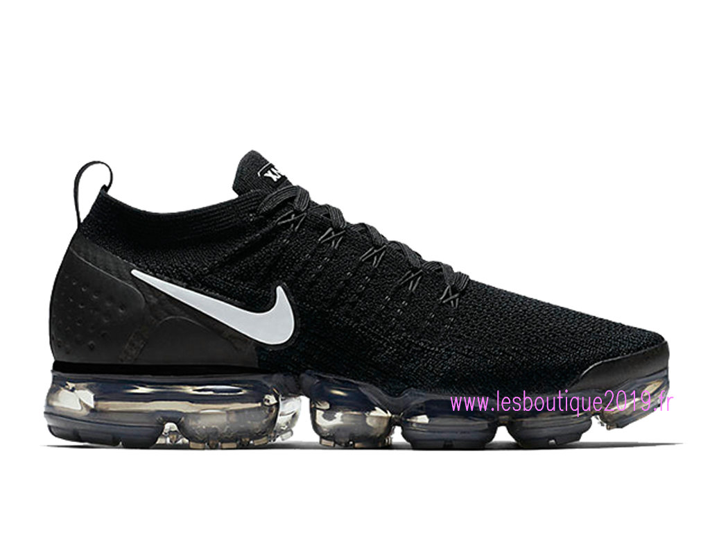 Nike Air VaporMax Flyknit 2.0 Noir Blanc Chaussures Nike Running Pas Cher Pour Homme 942842- ...