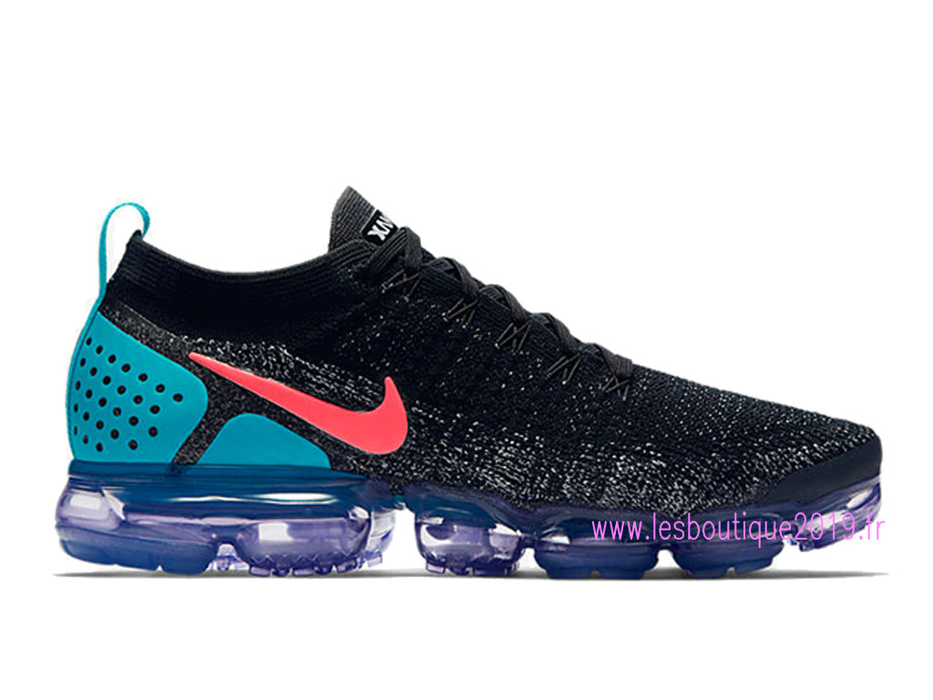 first rate 3c832 49f47 Nike Air VaporMax Flyknit 2.0 Noir Bleu Chaussures Nike Running Pas Cher  Pour Homme 942842- ...