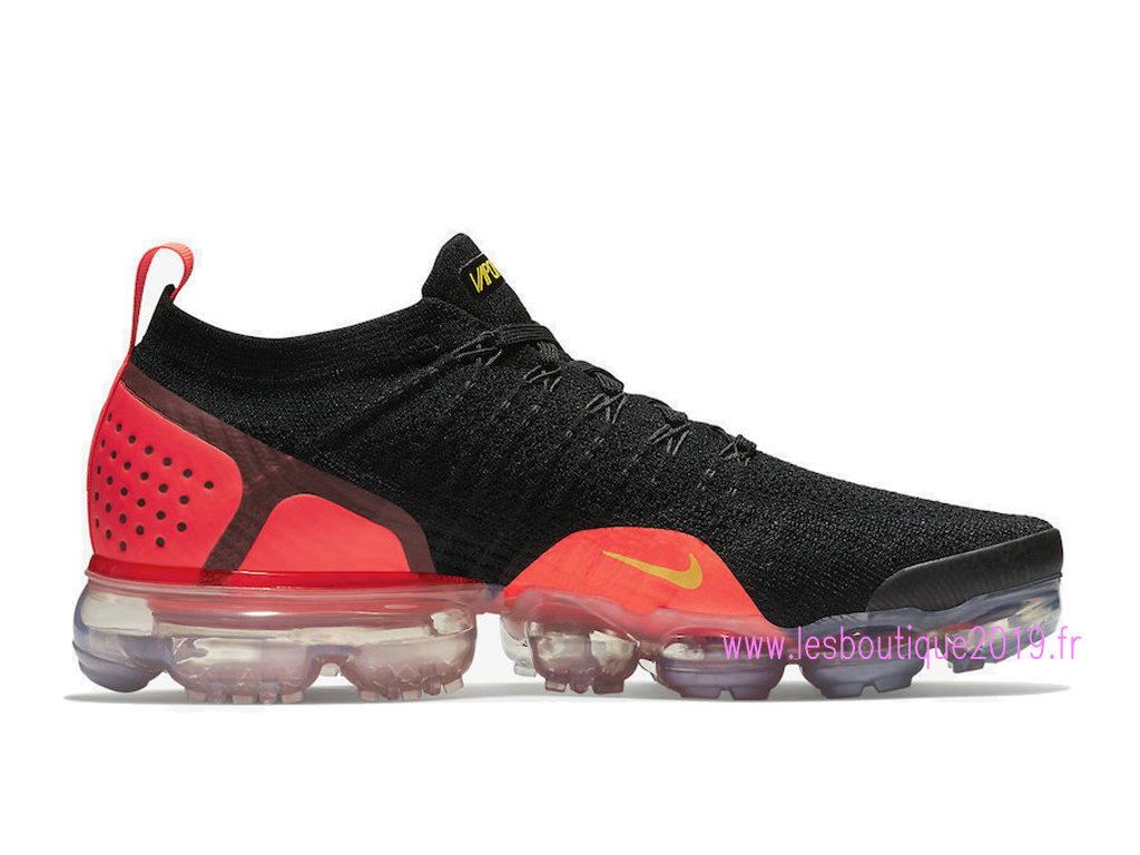 buy popular 2090d fee7d ... Nike Air VaporMax Flyknit 2.0 Noir Rouge Chaussures Nike Running Pas  Cher Pour Homme 942842- ...
