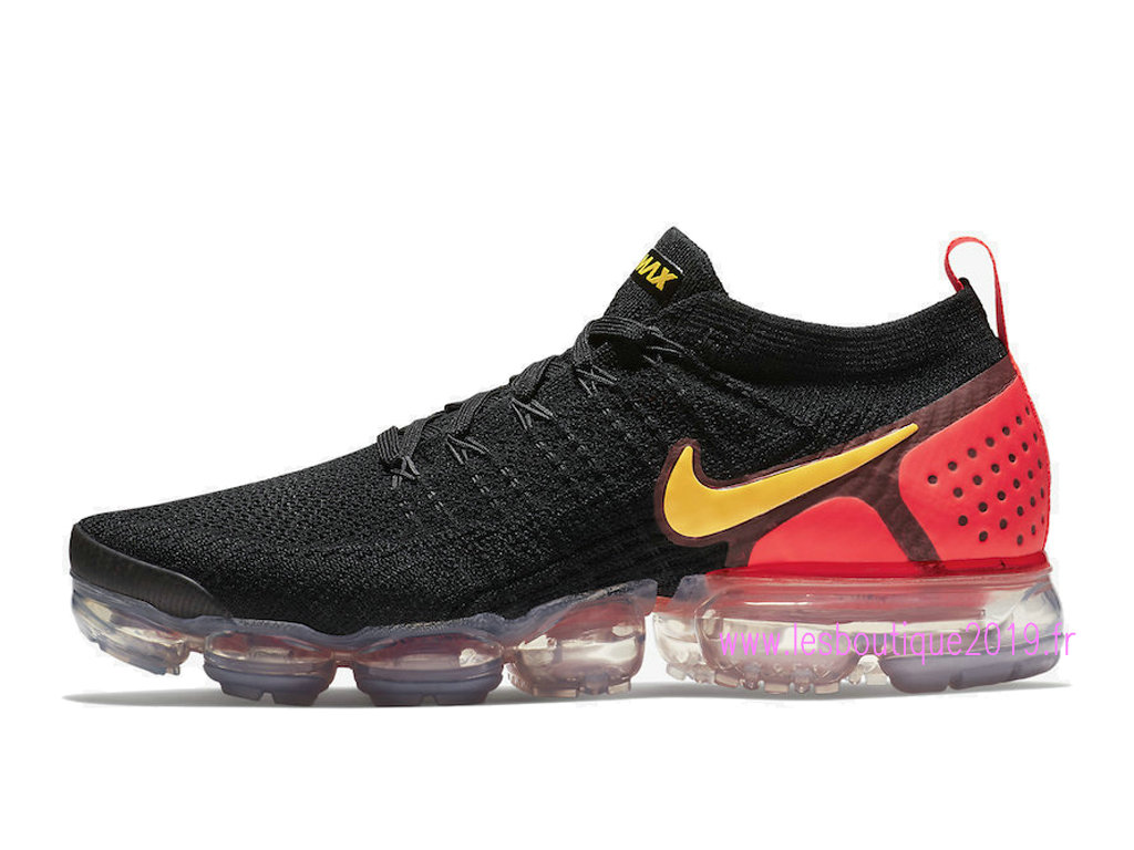 08ac0404ce Nike Air VaporMax Flyknit 2.0 Noir Rouge Chaussures Nike Running Pas Cher Pour  Homme 942842- ...