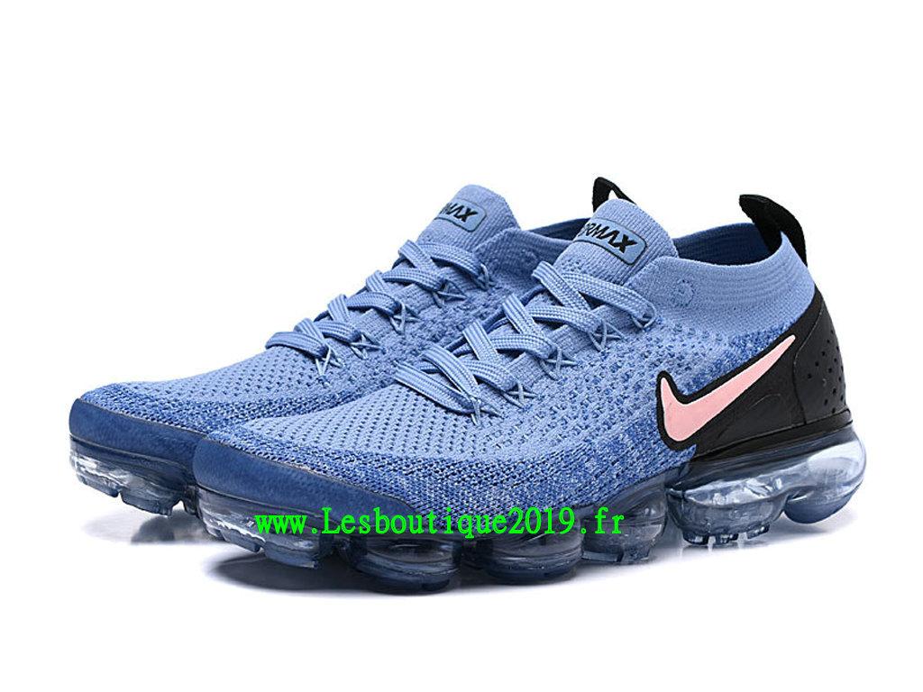 9809394e117 ... Nike Air VaporMax Flyknit 2.0 W Chaussures Basket 2019 Pas Cher Pour  Homme Bleu Noir 942842 ...