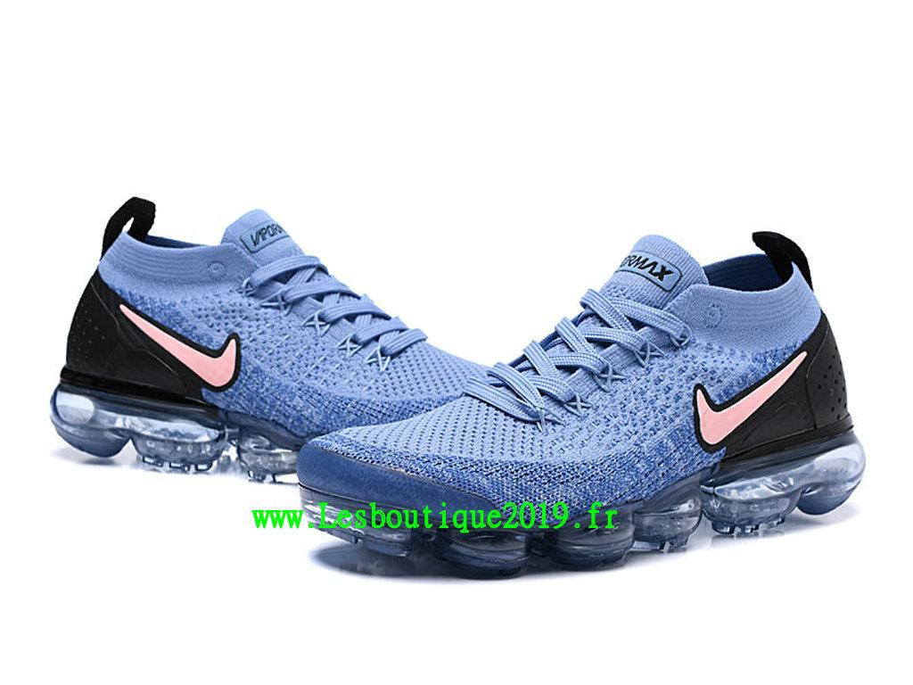 buy popular 1f83d 17f50 ... Nike Air VaporMax Flyknit 2.0 W Chaussures Basket 2019 Pas Cher Pour  Homme Bleu Noir 942842 ...