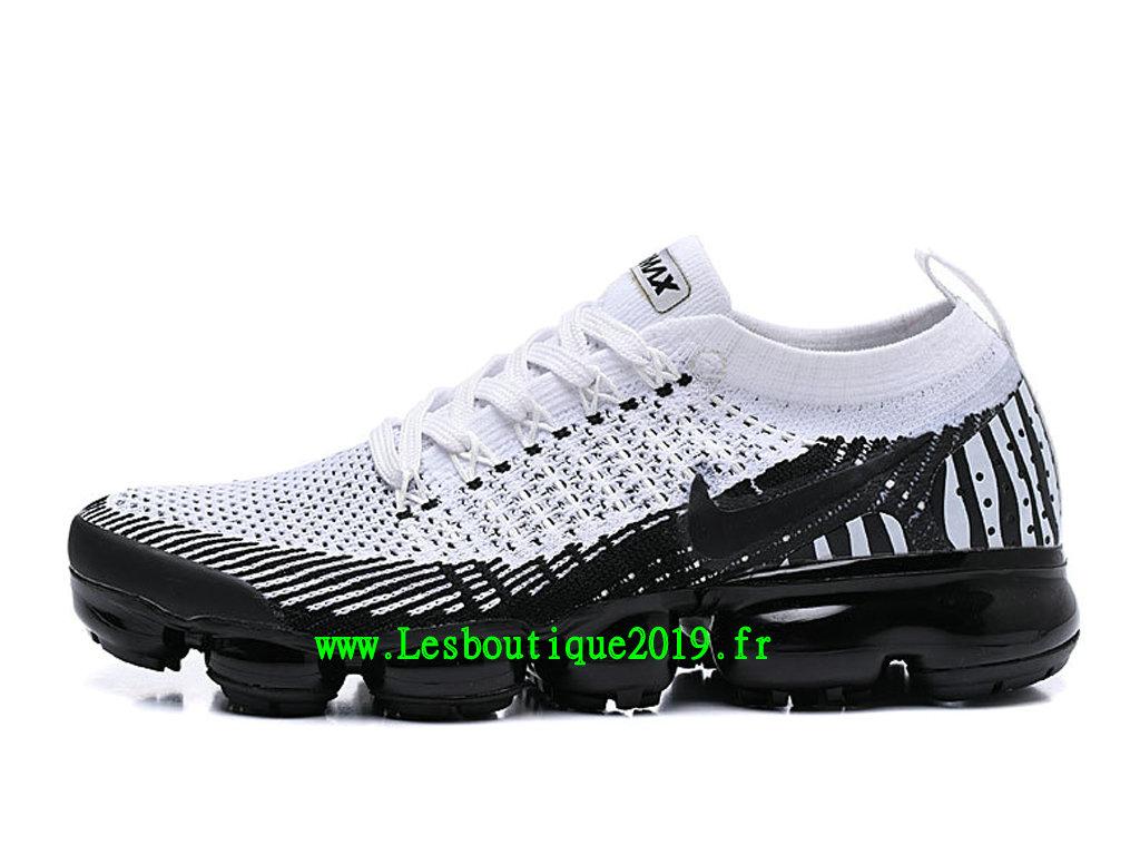 pretty nice d223d e5421 Nike Air VaporMax Flyknit 2.0 W Chaussures Basket 2019 Pas Cher Pour Homme  Noir Blanc AV7973 ...