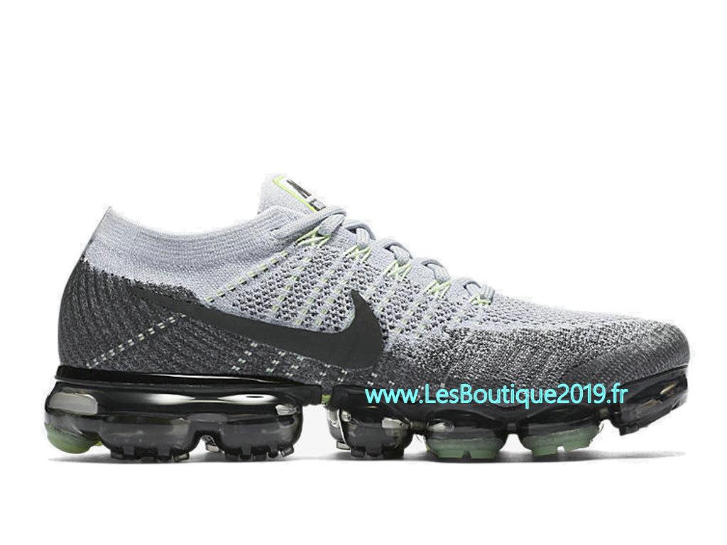 new style 79cec 907d3 Nike AIR Vapormax Flyknit Blanc Gris Chaussure de Running Pas Cher Pour  Homme 922915-002 ...