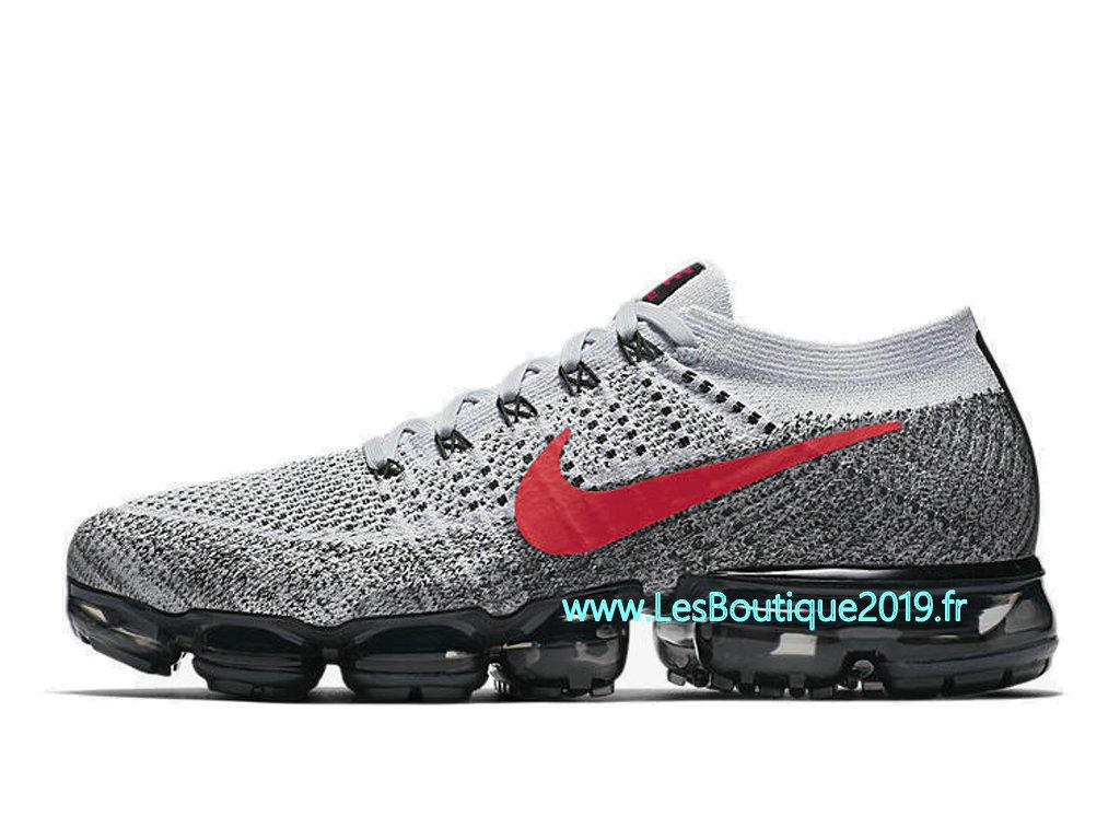 dadc4d4d79185 ... Nike AIR Vapormax Flyknit Gris Rouge Chaussure de BasketBall Pas Cher  Pour Homme 849558-020 ...