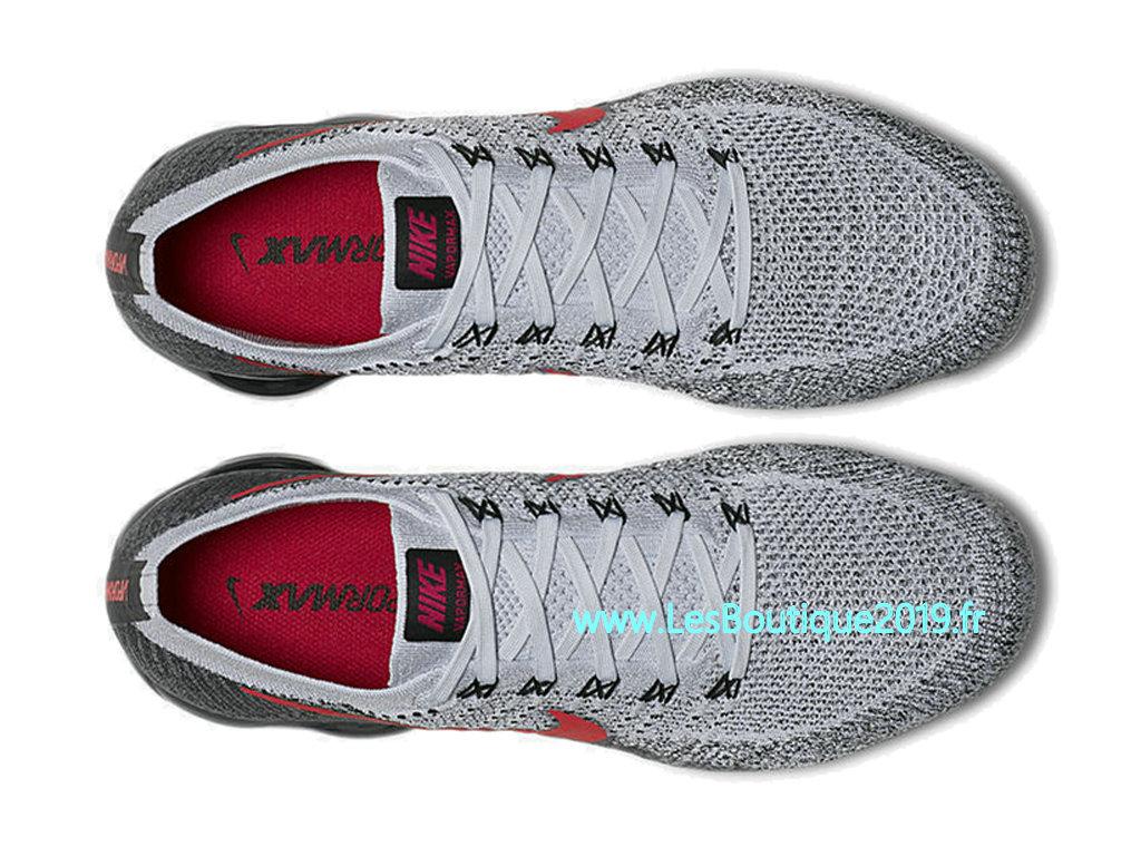 270853a50539f9 ... Nike AIR Vapormax Flyknit Gris Rouge Chaussure de BasketBall Pas Cher  Pour Homme 849558-020 ...