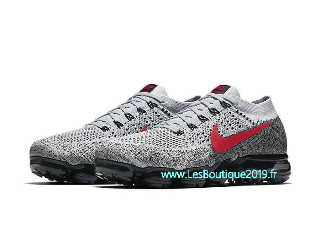 c96d187500f ... Nike AIR Vapormax Flyknit Gery Red Men´s Nike BasketBall Pas Cher Shoes  849558- ...