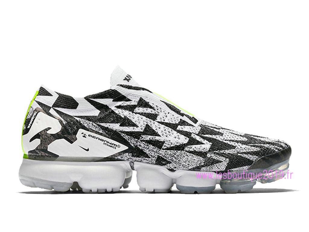 Nike Air VaporMax Flyknit MOC 2 Blanc Noir Chaussures Nike Running Pas Cher Pour Homme AQ0996 ...