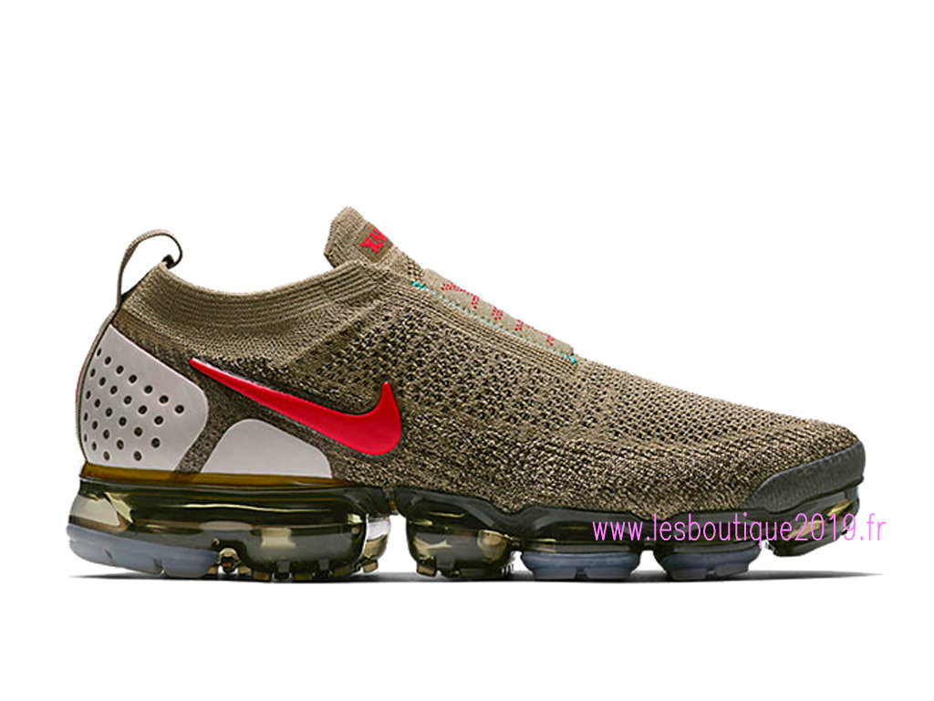 buy popular 7a38b 1fd17 Nike Air VaporMax Flyknit Moc 2 Brun Rouge Chaussures Nike Running Pas Cher  Pour Homme AH7006 ...