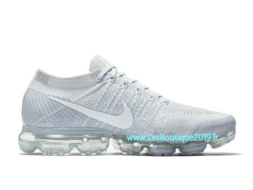 low priced f395f 103e7 Nike Air Vapormax Flyknit Pure Platinum White Gery Men´s Nike Runing Pas  Cher Shoes
