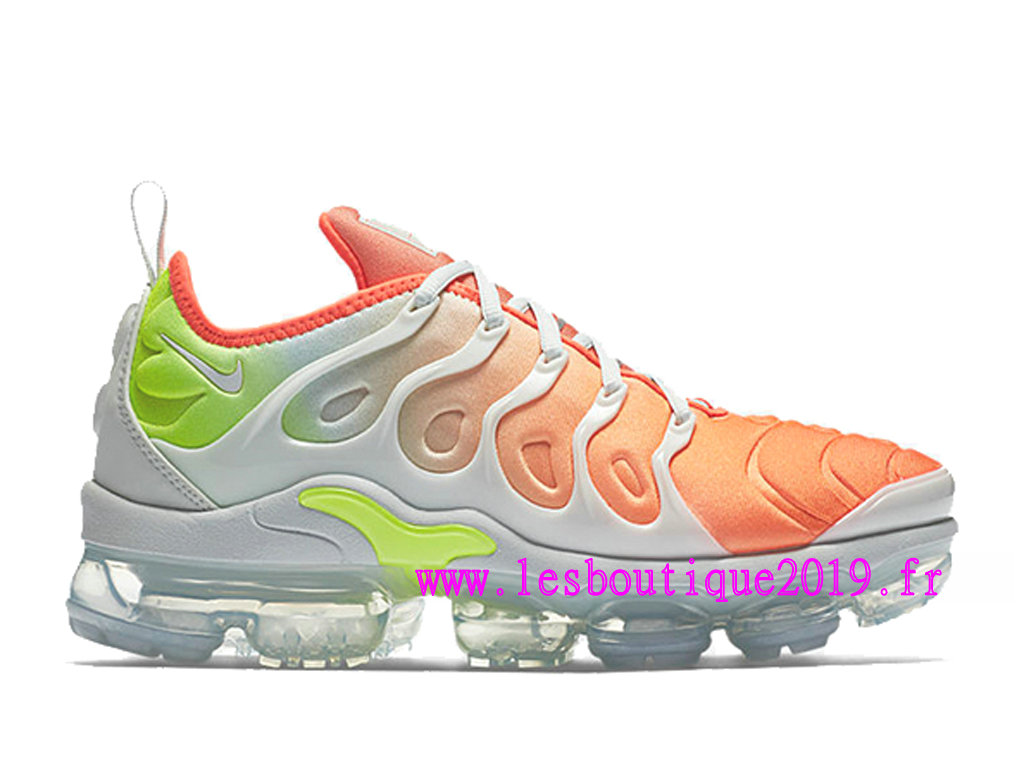 official photos ef432 26b8c ... new zealand nike air vapormax plus gs orange blanc chaussures de  basketball pas cher pour femme